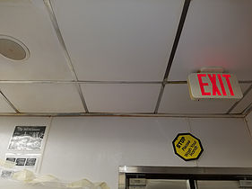 Ceiling tile cleaning after